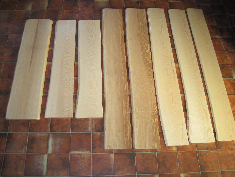 Holz-Fensterbänke mit Naturkante, ESCHE - mIRo