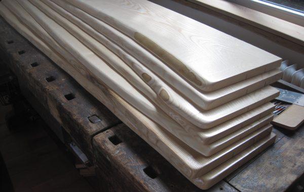 ESCHE Holz-Fensterbänke mit Naturkante, Baumkante, Live Edge