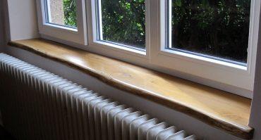 EICHE Holz-Fensterbänke mit Naturkante, Baumkante, Live Edge