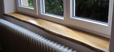 Live Edge, Baumkante Eichen Holzfensterbänke Naturkante