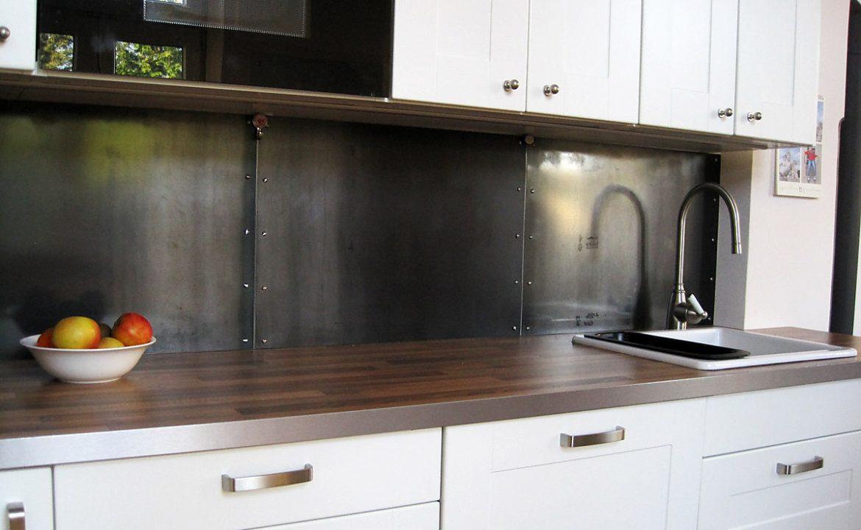 Fliesenspiegel Stahlpaneele Küche Spritzschutz