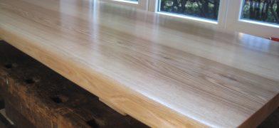 Sitzbank Esche Naturkante Holz