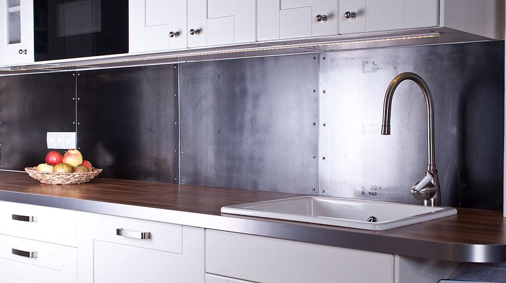 Stahlpaneele Küche Spritzschutz
