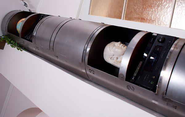 Stahlrohr-Schrank, Regal-Säule in Raumhöhe