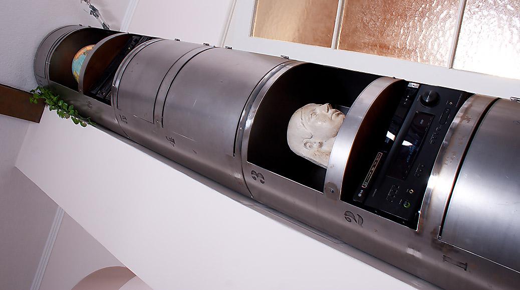 Stahlrohr-Schrank, Regal-Säule in Raumhöhe - mIRo