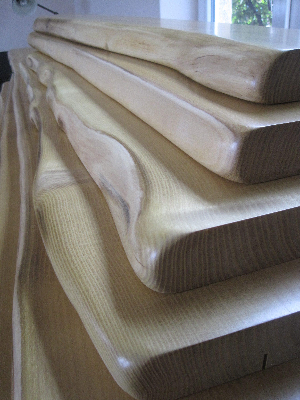 Holz Fensterbanke Mit Naturkante Robinie Akazie Miro Wohndesign
