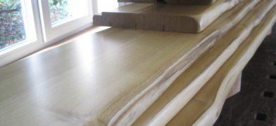 Holzfensterbank Robinie mit Naturkante