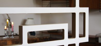 Raumteiler, Trennwand als Design-Quaderlandschaft