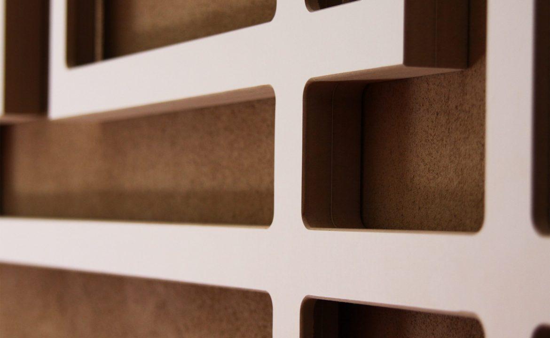 Wandbild Interior Dekoration Quaderskulptur für die Wand