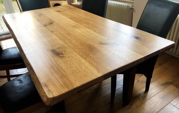 EICHE Tischplatte, Esstisch Besprechungstisch mit Baumkante