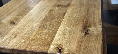 Eiche Tischplatte, verleimt, geölt
