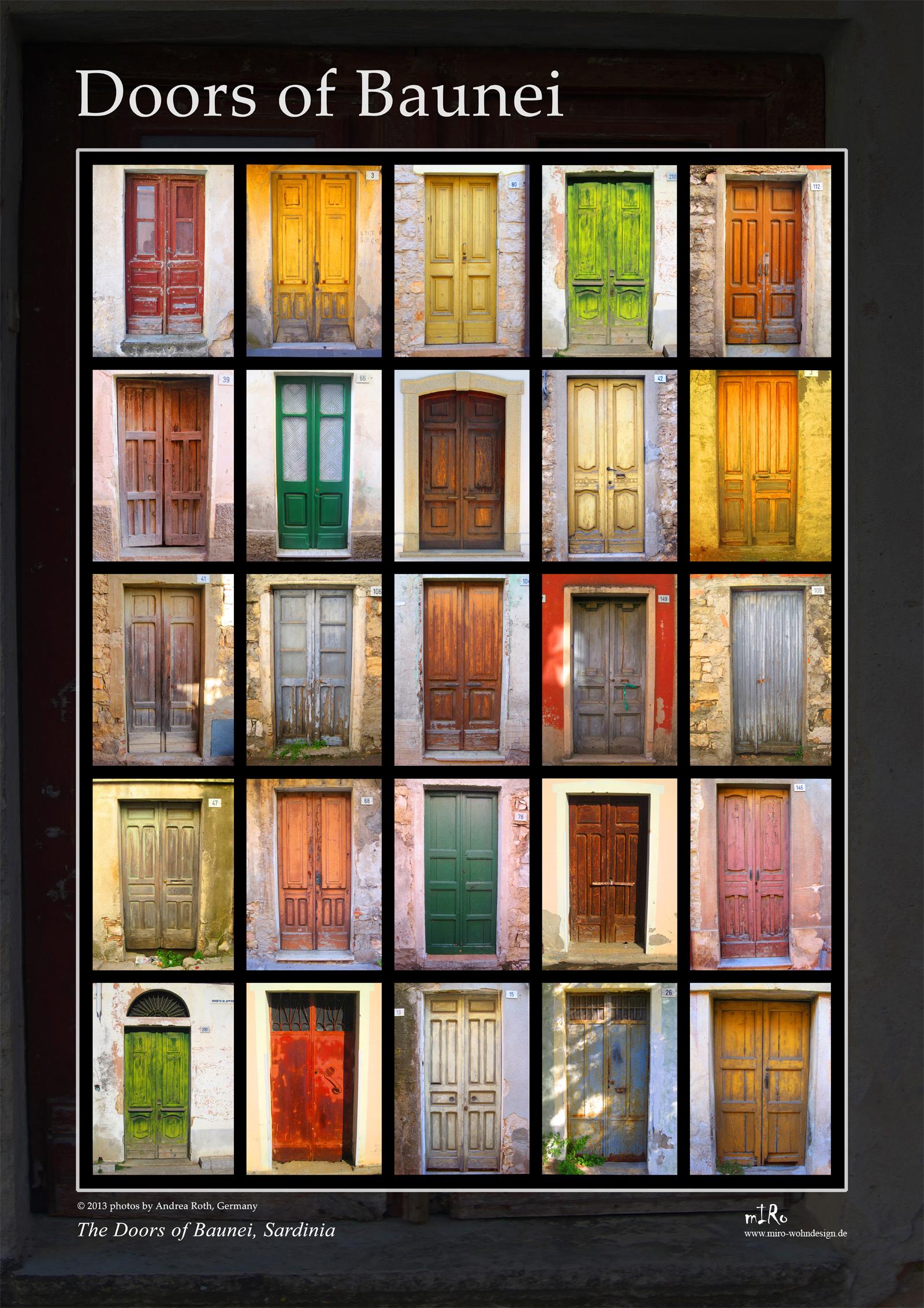 Poster Kunstdruck - Doors of Baunei, Sardinien