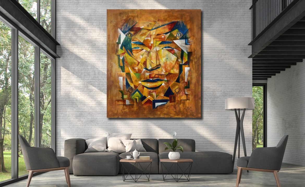 Old Young – large acryl painting by mIRo71