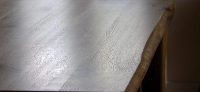 Tischplatte Eiche/Wildeiche, geölt, Naturkante, der Baumkante