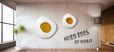 Friet Egg Wall Sculpture – Spiegelei Wanddekoration Wand-Skulptur