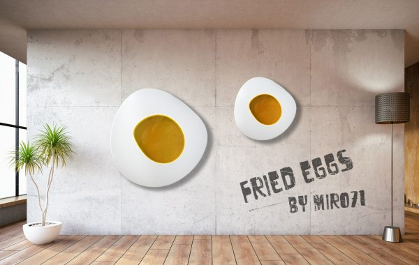 Fried Eggs Series – Wall Sculpture – Spiegelei Wandskulptur