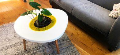 Pflanzentisch, Wohnzimmertisch – Spiegeleitisch by mIRo Studio