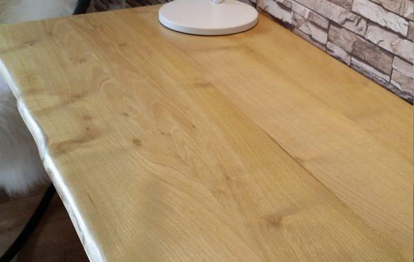 Robinie Schreibtisch-, Waschtisch-, Esstisch- oder Besprechungstisch-Platte, Baumkante